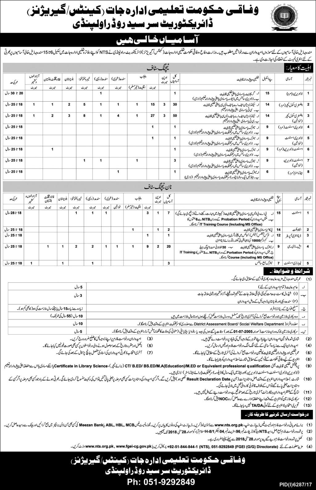 Federal Government Educational Departments Latest jobs 2018-thumbnail