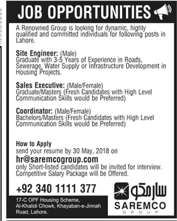 Saremco Group of Limited Latest Jobs 2018-thumbnail