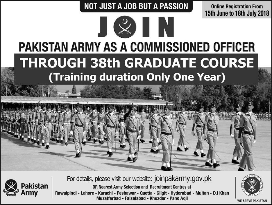 Join Pakistan Army as Commissioned Officer through 38th Graduate Course 2018-thumbnail