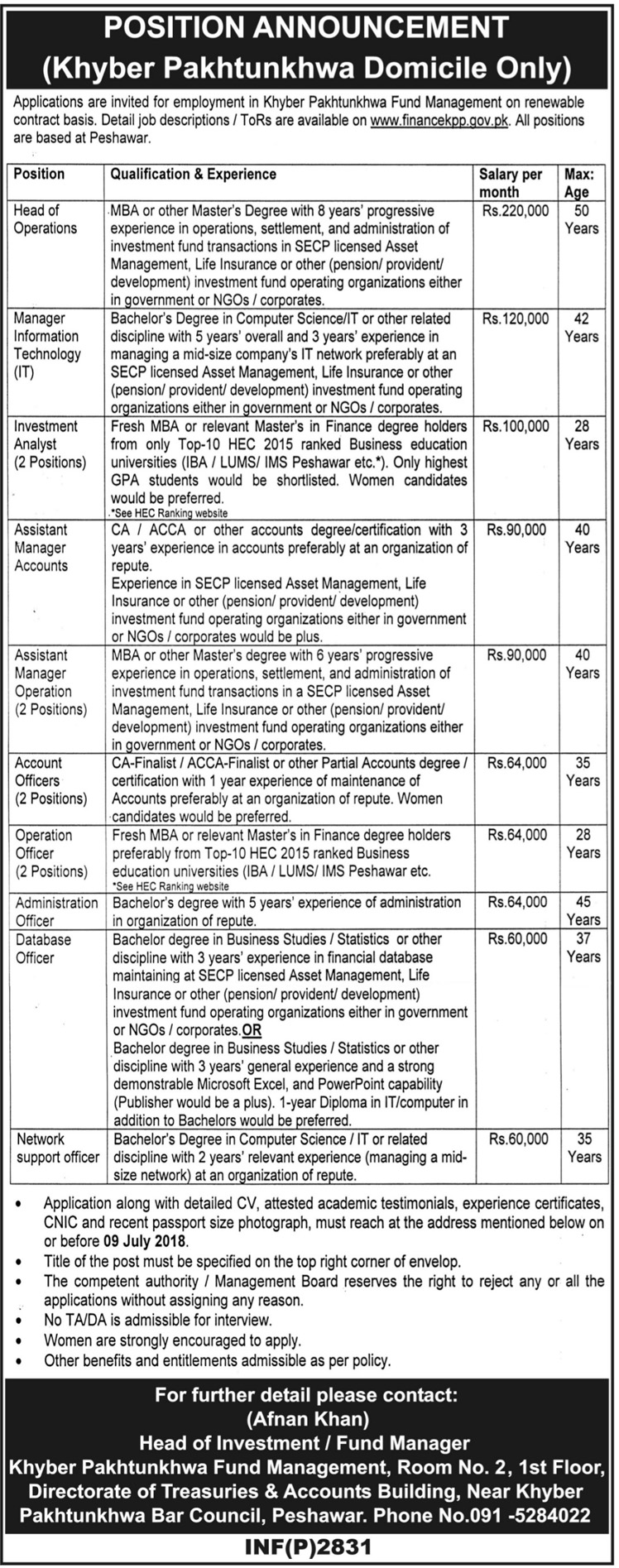 Career Opportunity in Khyber Pakhtunkhwa Fund Management Latest jobs 2018-thumbnail