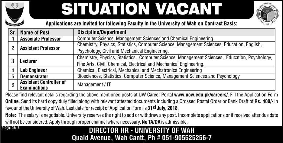 University of Wah Latest Jobs 2018 teaching jobs-thumbnail