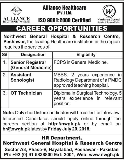 North West Hospital Peshawar Latest Jobs 2018 KPK Apply online-thumbnail