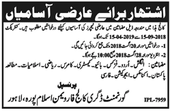 Government Degree College for Women Lahore Latest Jobs 2018 Teaching Jobs-thumbnail