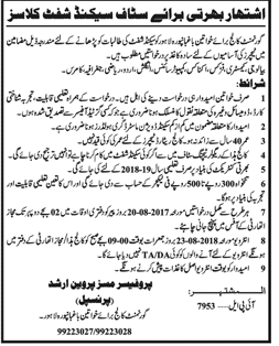 Government Degree College for Women Bhagbanpura Lahore Latest Jobs 2018 teaching jobs-thumbnail