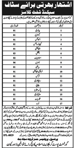 Government Post Graduate Islamia College For Women Lahore Cannt Lecturer Jobs 2018 -thumbnail