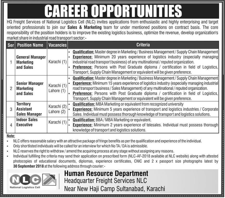 NLC Latest Jobs 2018  in All over in Pakistan on September, 2018 | Government