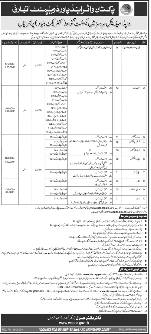 Wapda Latest Jobs 2018 in Medical Field Services-thumbnail