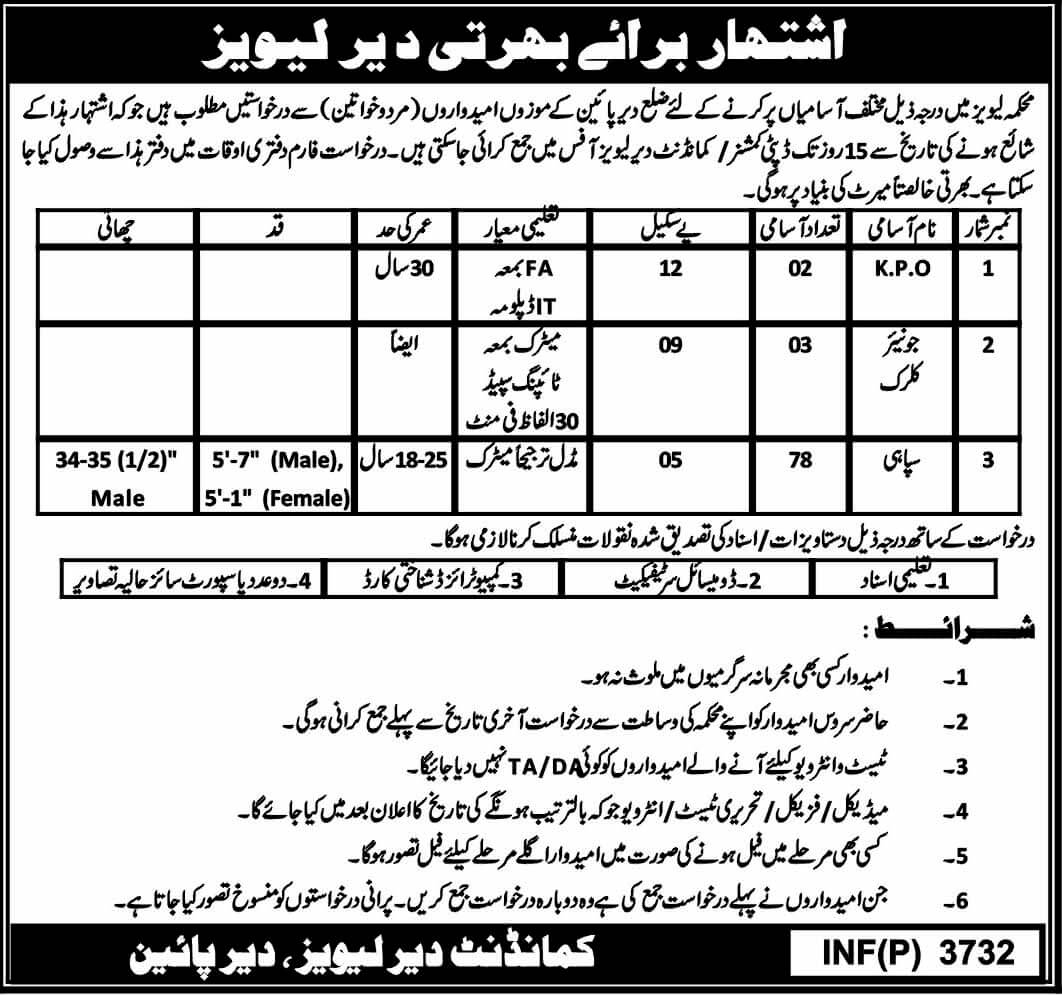 Levy Department Kpk Latest Jobs 2018 Government Jobs in KPK on September, 2018 | Government