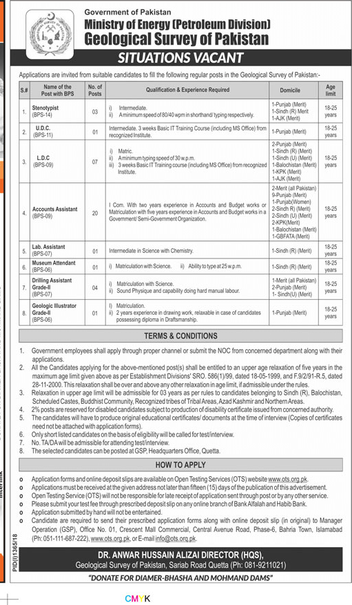 Ministry Of Energy Petroleum Division Latest Jobs 2018 Govt Jobs in All over in Pakistan on September, 2018 | Government