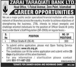 ZTBL- Zarai Taraqiati Bank Latest Jobs 2018 -thumbnail