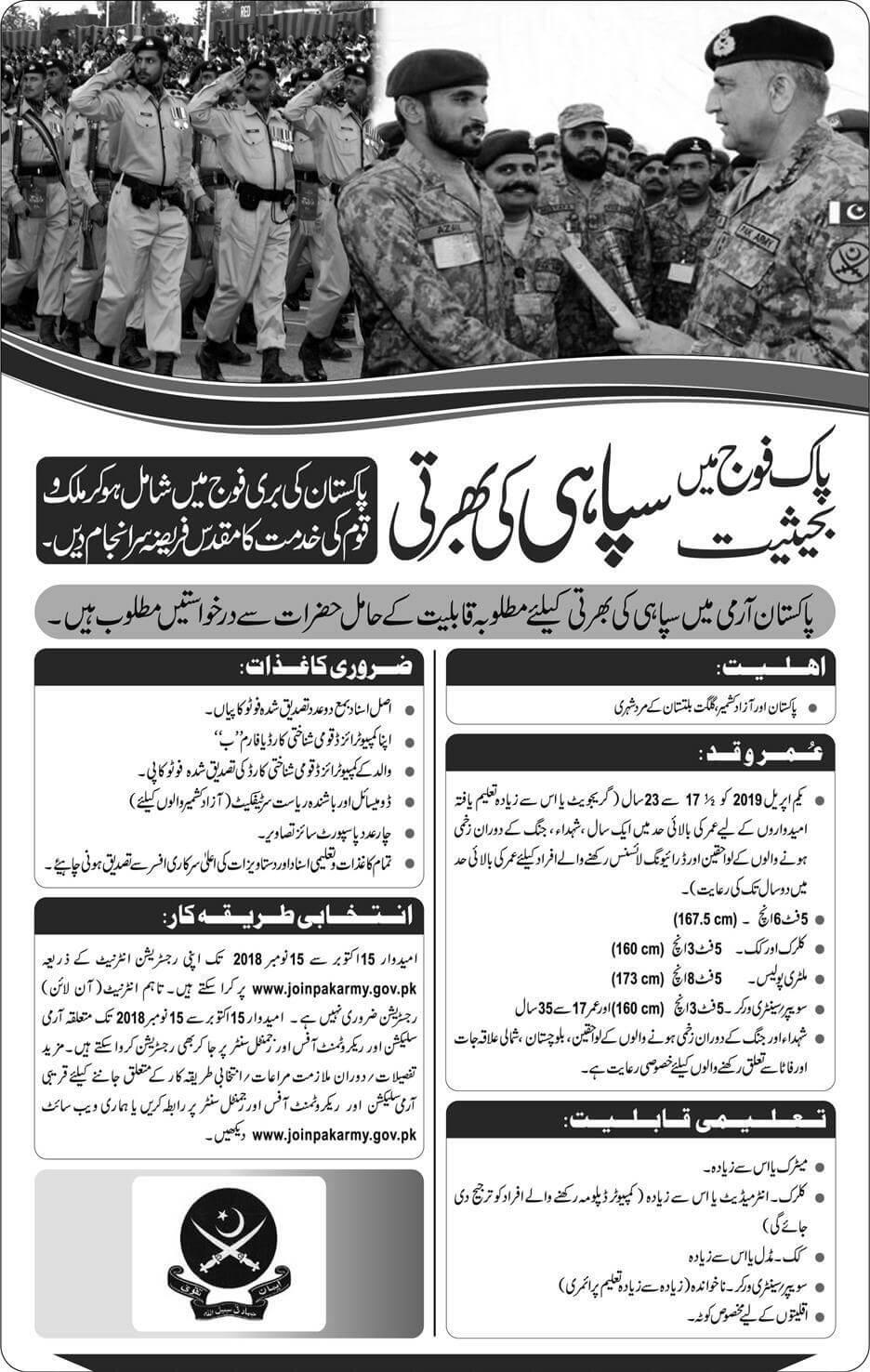 Join Pak Army Latest Jobs 2018 Army Jobs-thumbnail