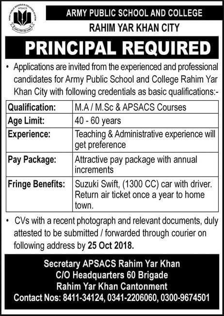 APS- Rahim Yar khan Latest Jobs 2018 Aps Teaching Jobs-thumbnail