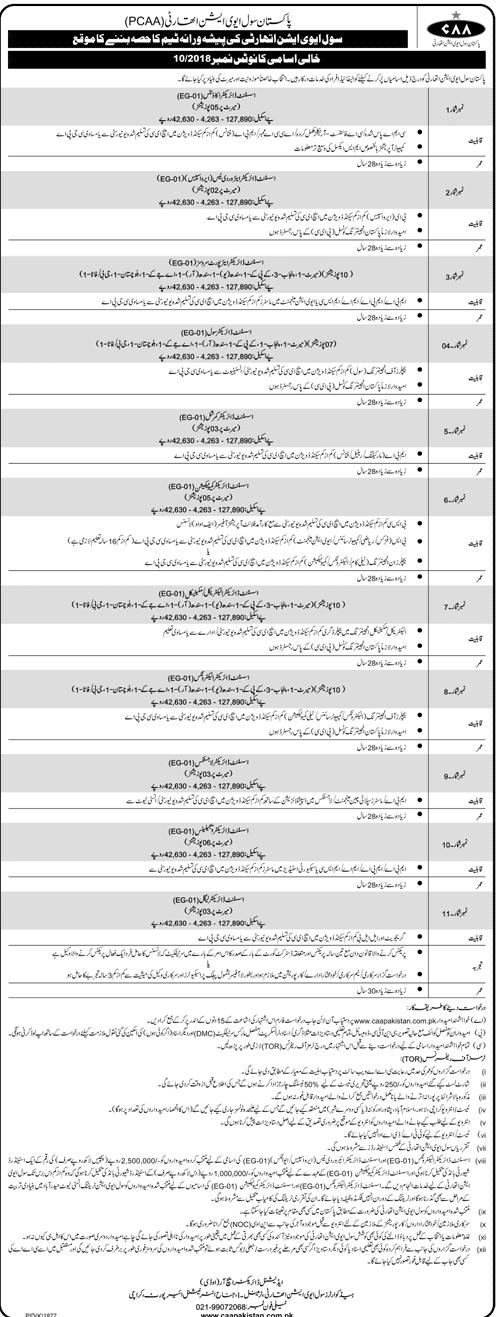 PCAA Jobs 2018 Pakistan Civil Aviation Authority-thumbnail