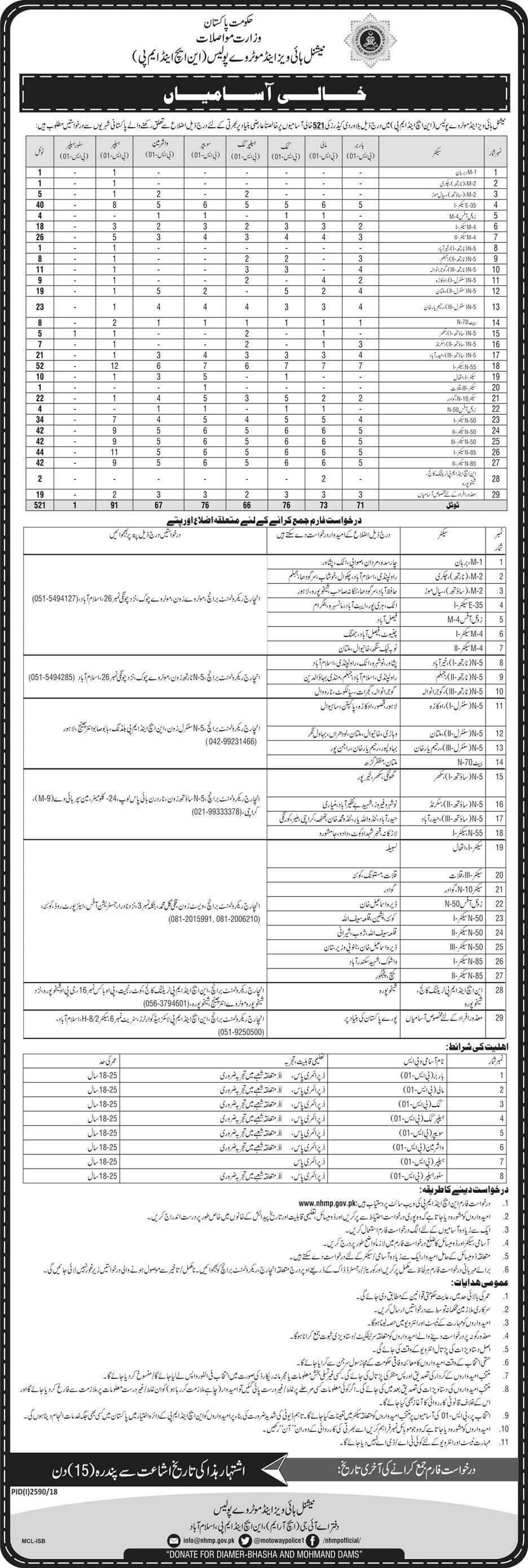 National Highway and Motorway Police Jobs 2018 Download Application Form-thumbnail