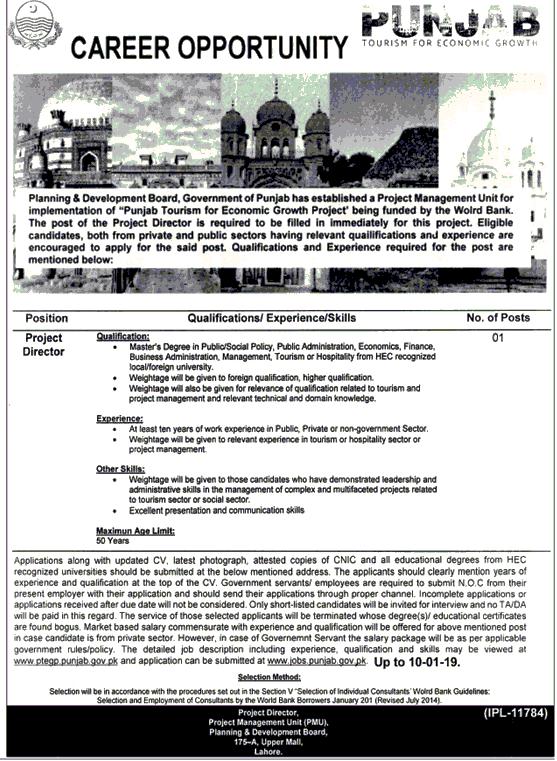 Punjab Tourism Department Jobs 2019 Apply online -thumbnail