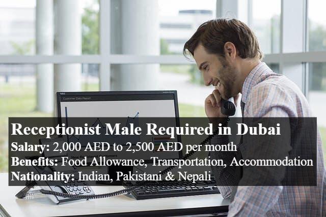 Receptionist Male jobs In Dubai-thumbnail