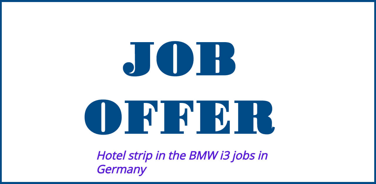 Hotel strip in the BMW i3 for Berlin-Mitte jobs in Germany