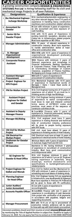 System Pvt Ltd Jobs 2019 All over the pakistan