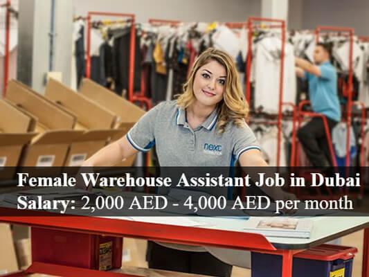 Female Warehouse Assistant Job In Dubai