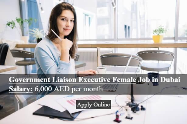 Government Liaison Executive Female Job In Dubai
