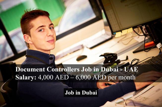 Document Controllers Job In Dubai