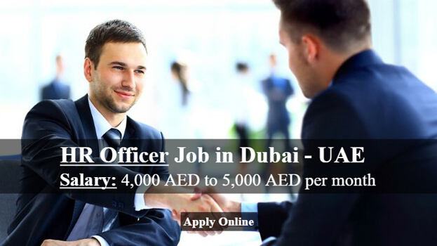 HR Officer Job In Dubai