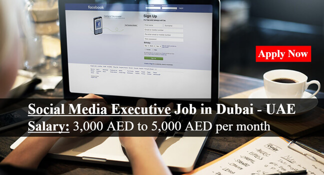 Social Media Executive Job In Dubai