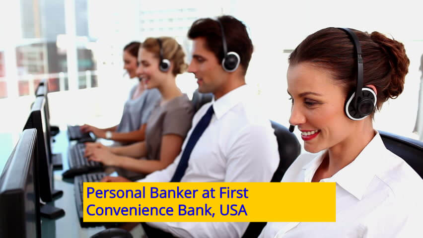Personal Banker at First Convenience Bank USA