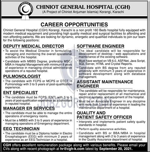 Chiniot General Hospital CGH Latest jobs-thumbnail