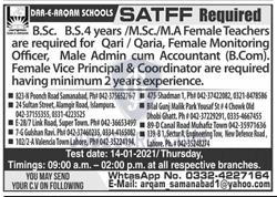 Qari in Lahore on January, 2021 | Education Department
