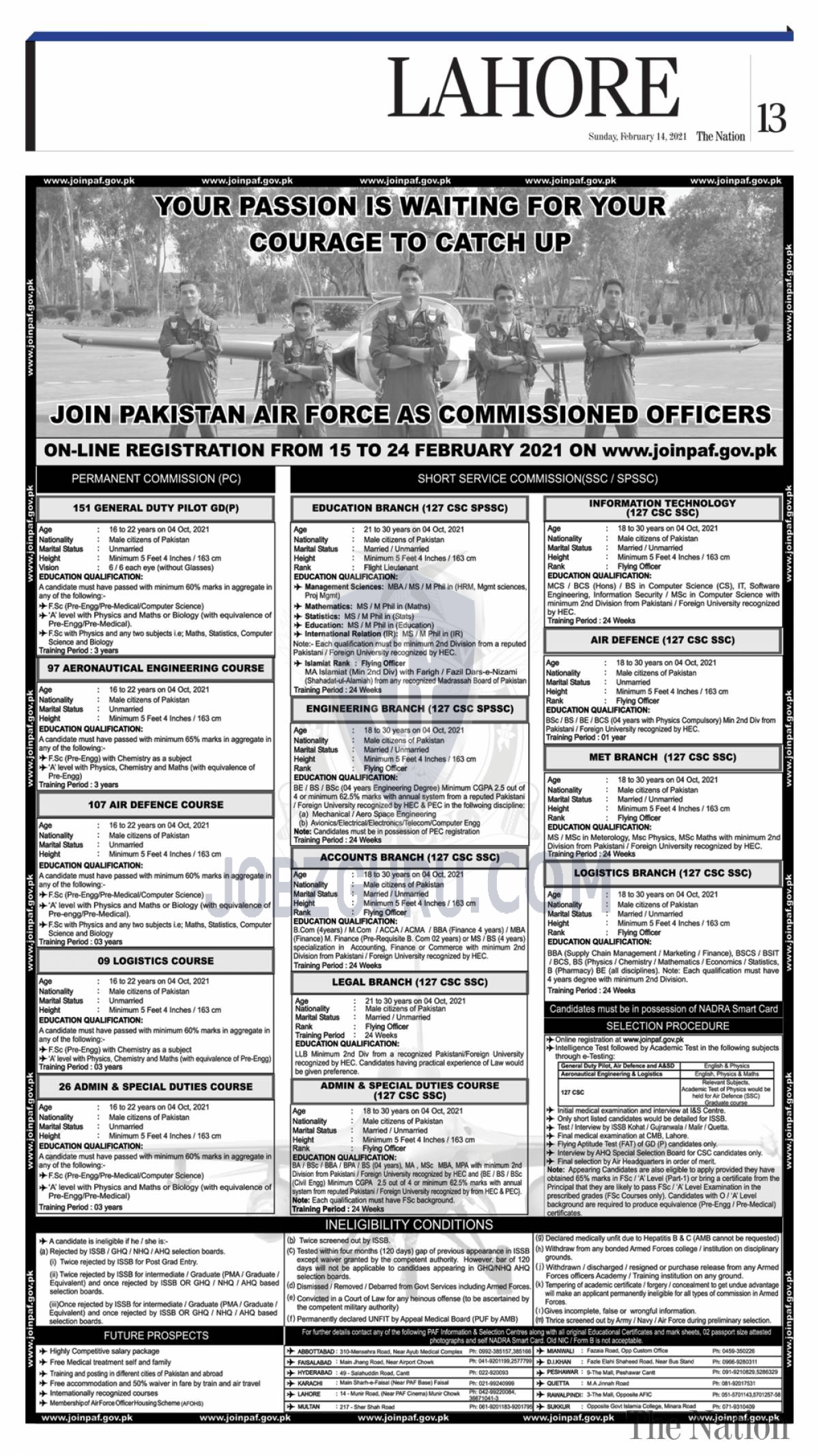join paf latest jobs 2021 pakistan airforce