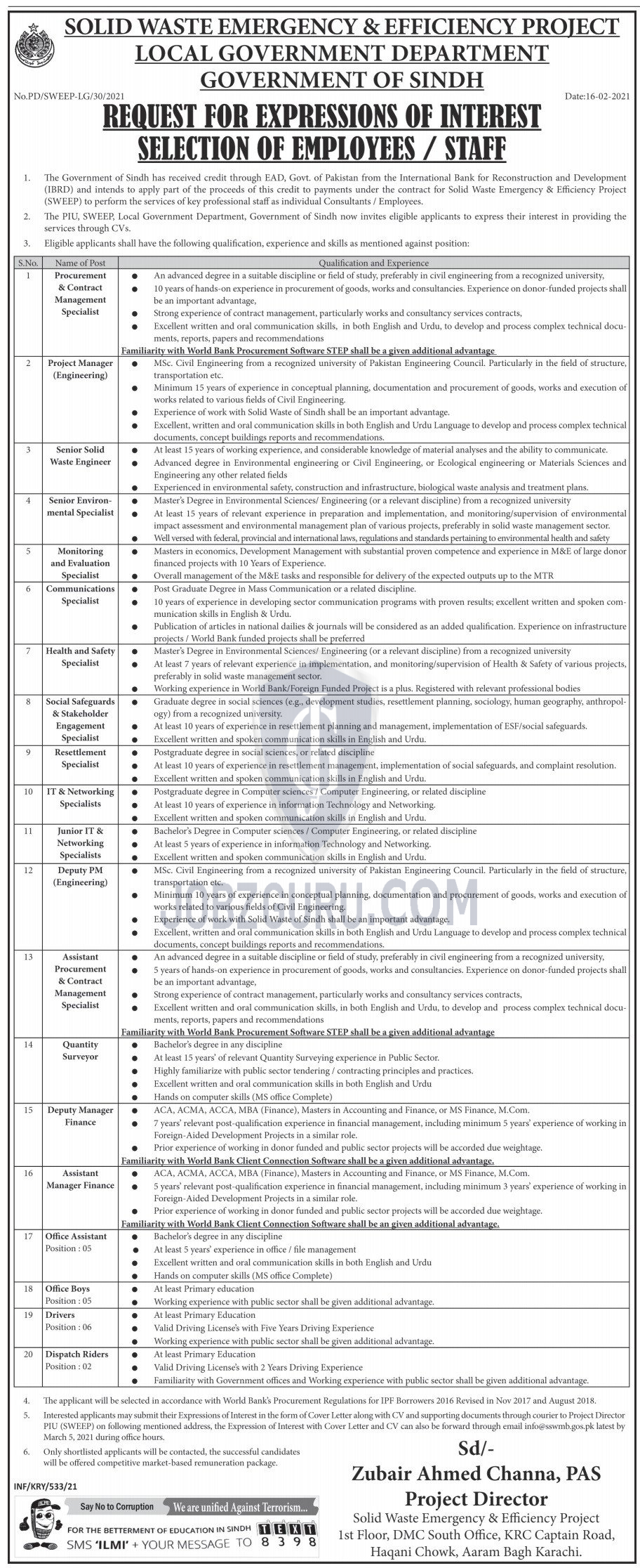 Local Government Department Jobs 2021  Solid Waste Emergency Project-thumbnail