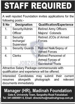 Madinah Foundation Lahore Latest jobs-thumbnail