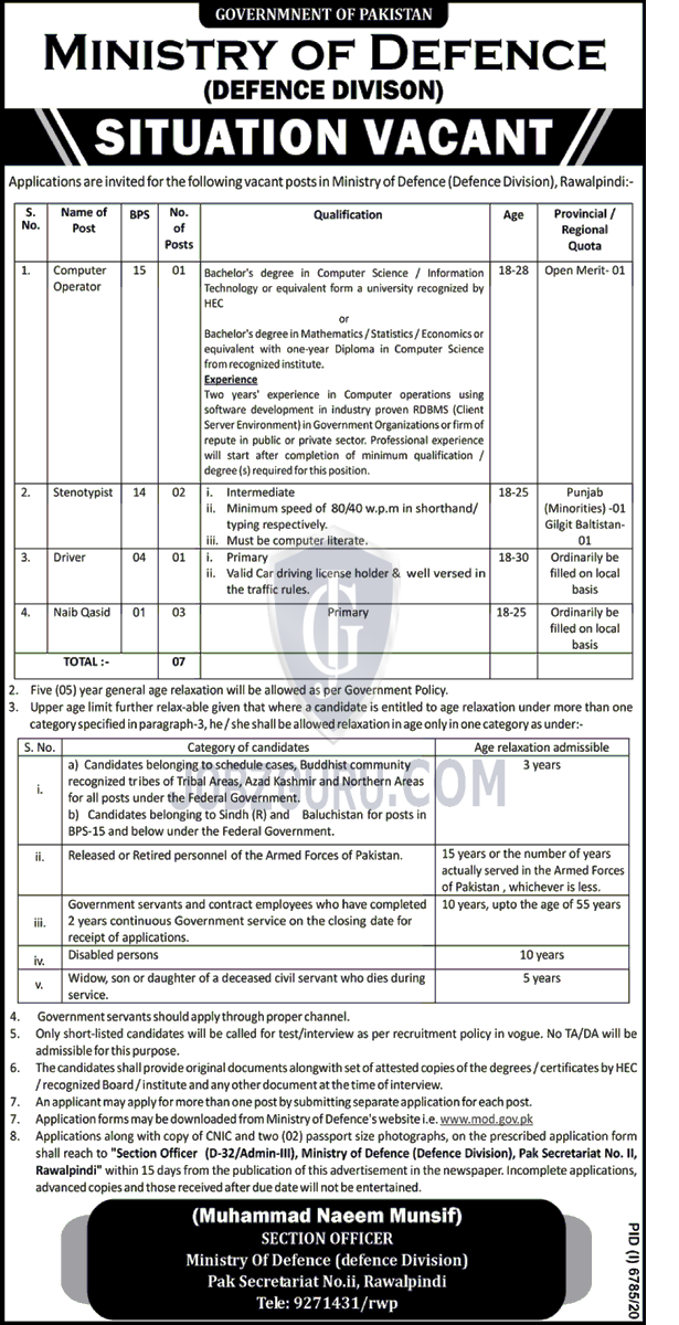 Ministry of Defence Latest jobs 2021 MOD Download application form-thumbnail
