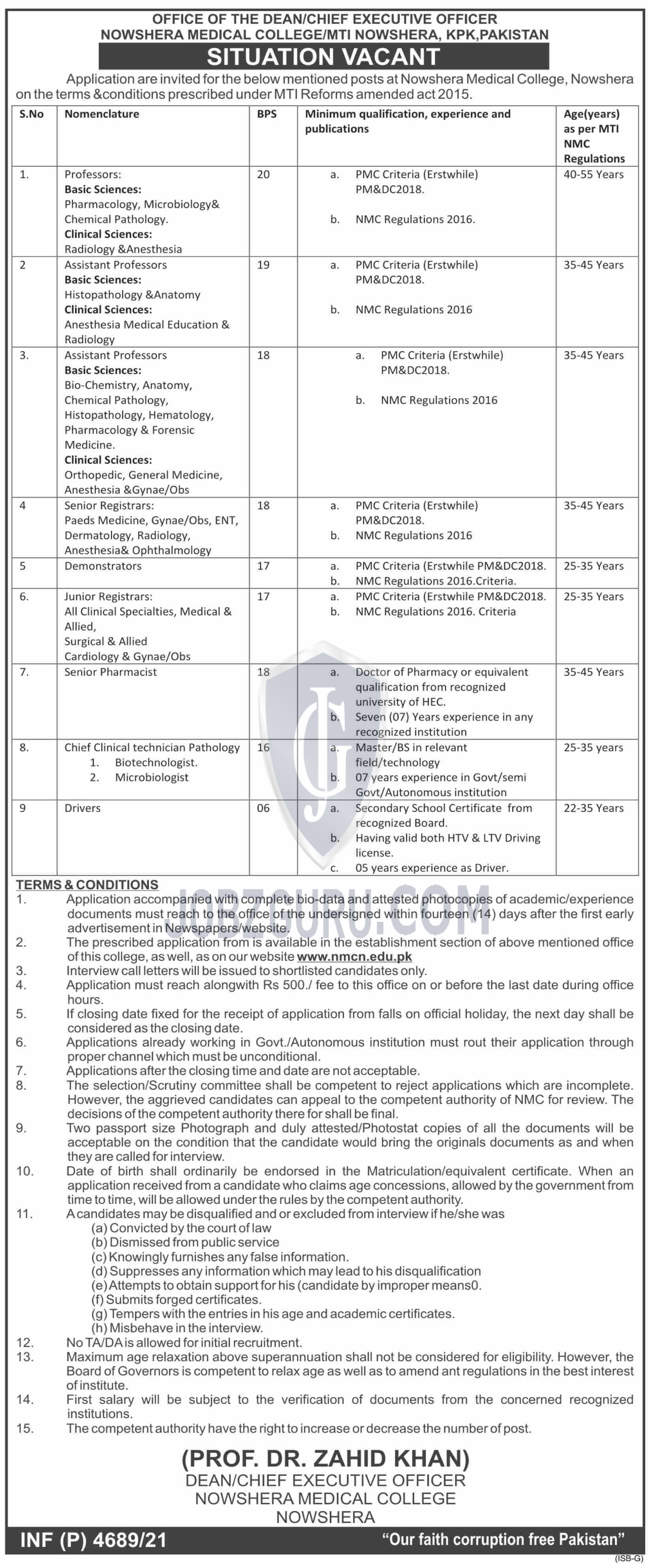 Nowshera Medical College Latest jobs-thumbnail