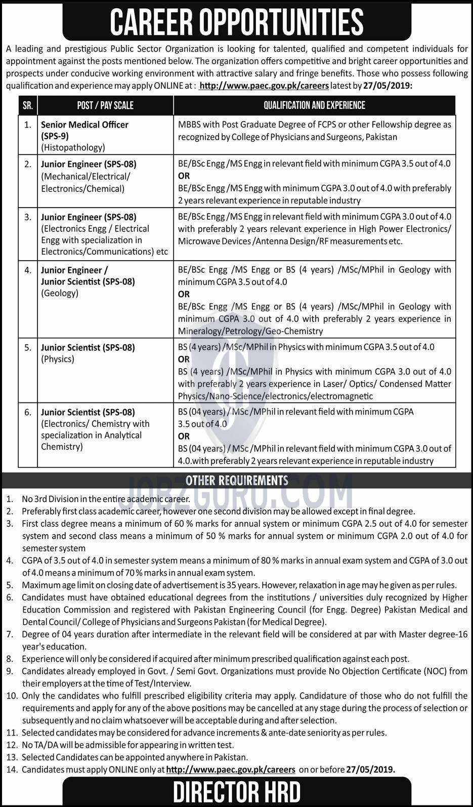 PAEC Jobs 2019 Pakistan Atomic Energy Commission