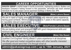 Pak Asia Group Private Limited Latest Jobs 2021 in Lahore on January, 2021 | Private