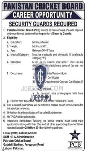 Pakistan Cricket Board Jobs 2019 Government of Pakistan