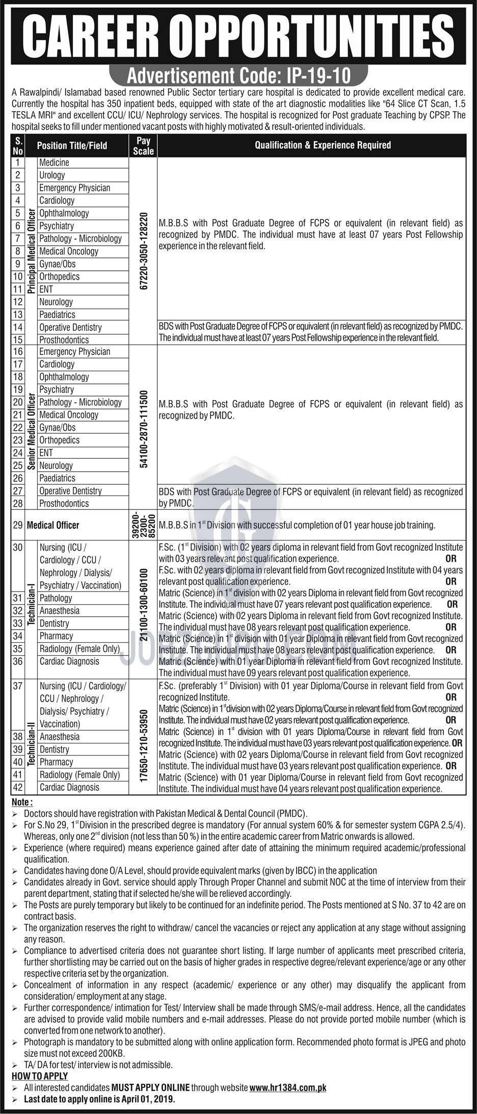 Public Sector Hospital Jobs 2019 HR1384 Apply online-thumbnail