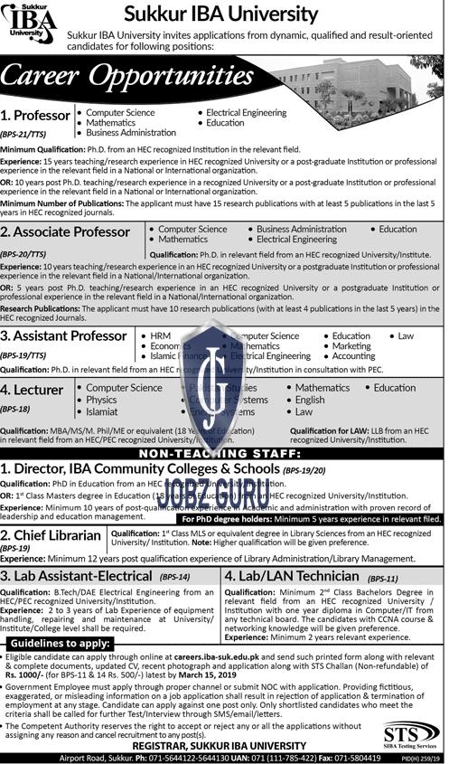 Sukkur IBA University Jobs 2019-thumbnail