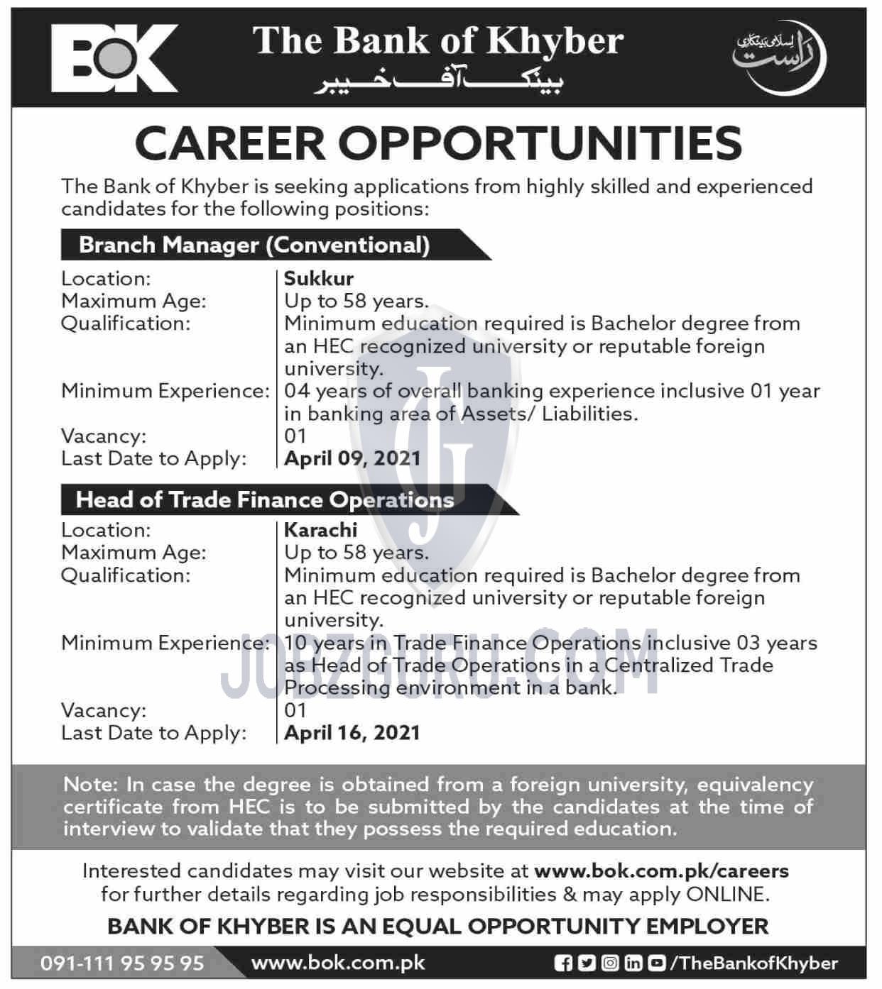 The Bank of Khyber Latest jobs 2021-thumbnail